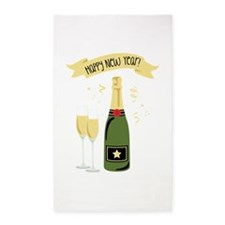 Happy New Year Banner Area Rug