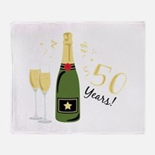 50 Years Throw Blanket