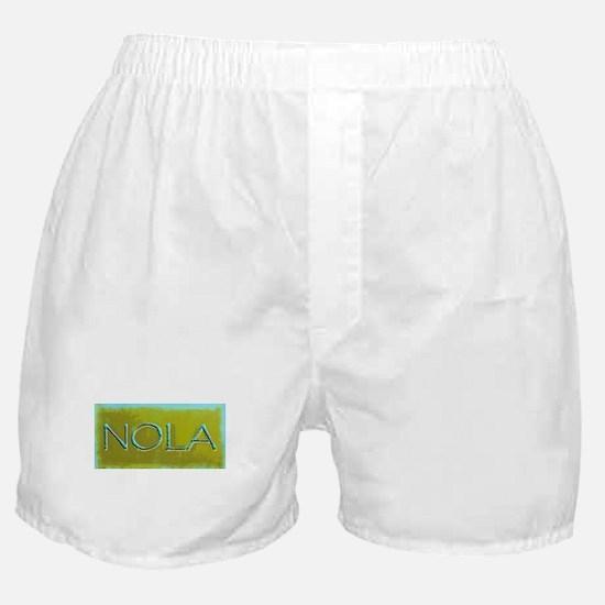 NOLA OLIVE TURQ Boxer Shorts