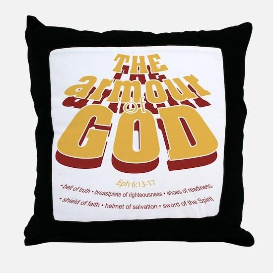 Armour of God Throw Pillow