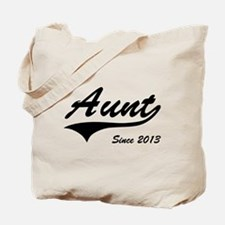 Aunt Since 2013 Tote Bag