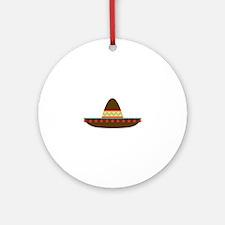 Sombrero Ornament (Round)