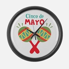 Cinco De Mayo Large Wall Clock