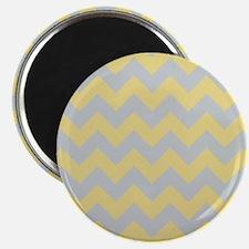 Custard Yellow and Glacier Gray Chevron Magnets