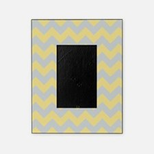 Custard Yellow and Glacier Gray Chevron Picture Frame