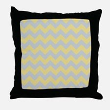 Custard Yellow and Glacier Gray Chevron Throw Pill