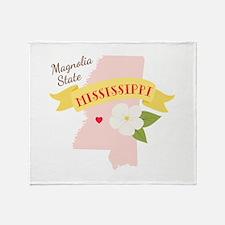 Magnolia State Throw Blanket