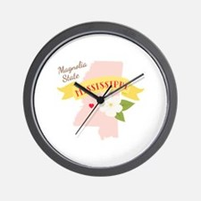 Magnolia State Wall Clock