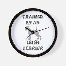 Irish Terrier Slvr Wall Clock
