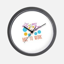 Protect Our Earth,Bike To Work Wall Clock