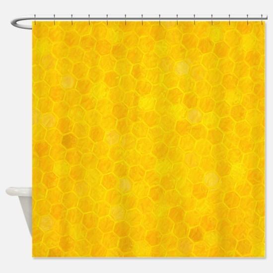 Artsy Honeycomb Shower Curtain