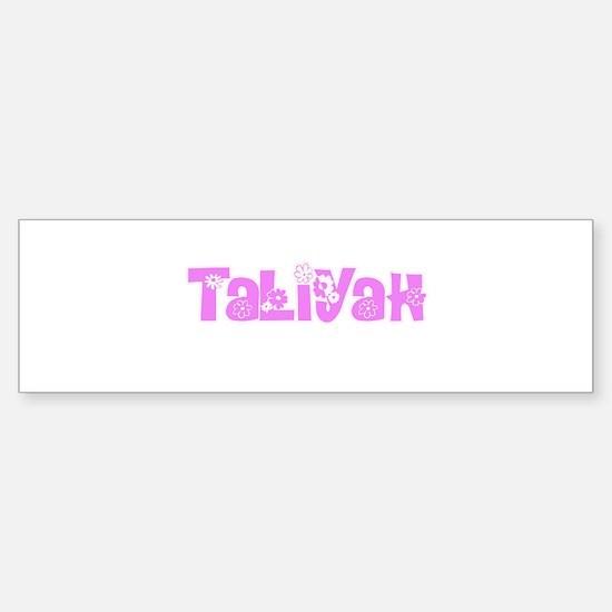 Taliyah Flower Design Bumper Bumper Bumper Sticker