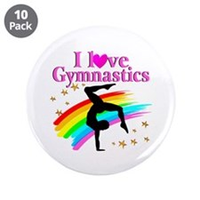 "BORN A GYMNAST 3.5"" Button (10 pack)"