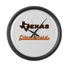 Texas Odontologist Large Wall Clock