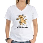 Dancing Cat Women's V-Neck T-Shirt