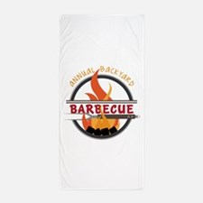 Backyard Barbecue Beach Towel
