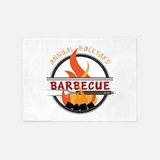 Backyard Barbecue 5'x7'Area Rug