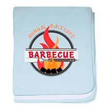 Backyard Barbecue baby blanket