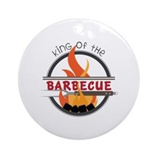King of Barbecue Ornament (Round)
