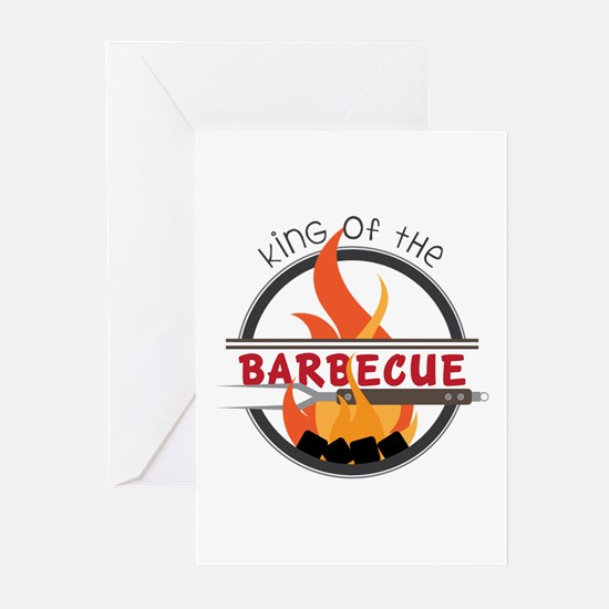 King of Barbecue Greeting Cards