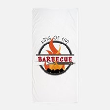 King of Barbecue Beach Towel