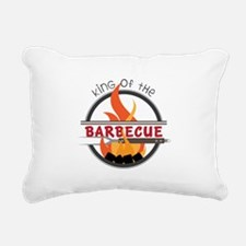 King of Barbecue Rectangular Canvas Pillow