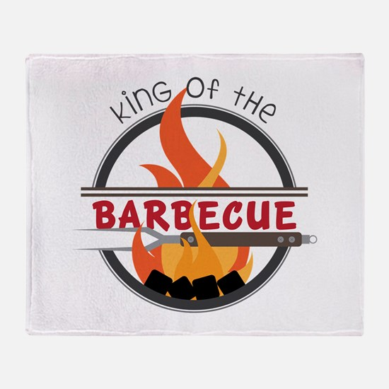 King of Barbecue Throw Blanket