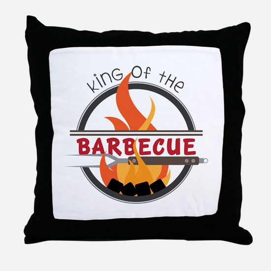 King of Barbecue Throw Pillow