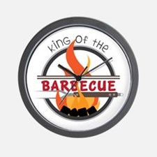 King of Barbecue Wall Clock