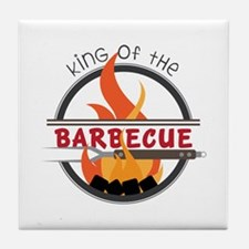 King of Barbecue Tile Coaster