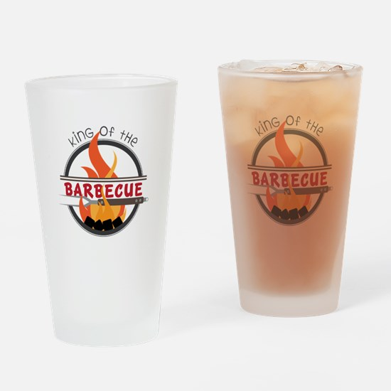 King of Barbecue Drinking Glass