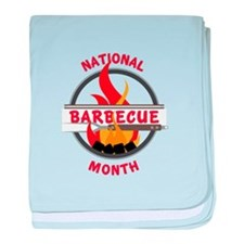 Barbecue Month baby blanket