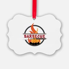 Barbecue Flame Logo Ornament