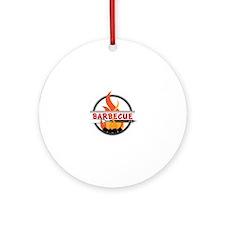 Barbecue Flame Logo Ornament (Round)