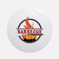 Barbecue Flame Logo Ornament (Round)