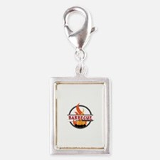 Barbecue Flame Logo Charms