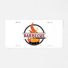 Barbecue Flame Logo Aluminum License Plate