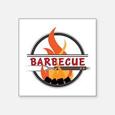 Barbecue Flame Logo Sticker