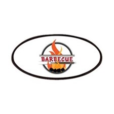 Barbecue Flame Logo Patch