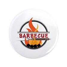 Barbecue Flame Logo Button