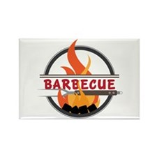 Barbecue Flame Logo Magnets