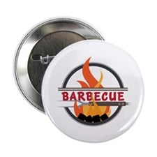 "Barbecue Flame Logo 2.25"" Button (10 pack)"