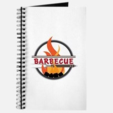 Barbecue Flame Logo Journal
