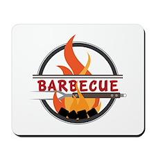Barbecue Flame Logo Mousepad
