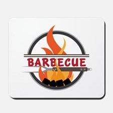 Barbecue Flame Logo Mousepad