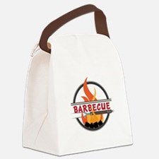Barbecue Flame Logo Canvas Lunch Bag