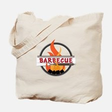 Barbecue Flame Logo Tote Bag