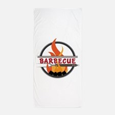 Barbecue Flame Logo Beach Towel