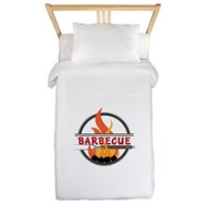 Barbecue Flame Logo Twin Duvet