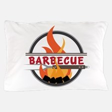 Barbecue Flame Logo Pillow Case